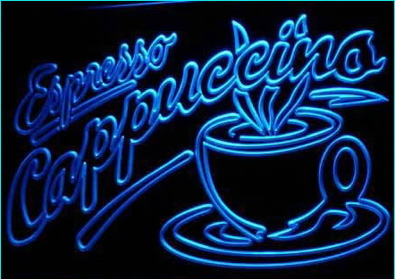 OPEN Espresso Cappuccino Coffee Cafe Light Signs